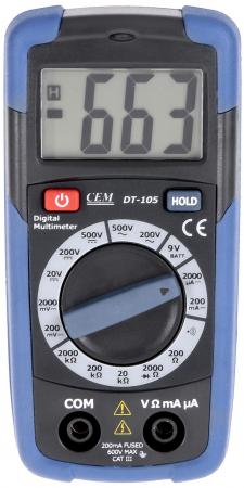 Мультиметр цифровой СЕМ DT-105 карманный тестер хуа шенгчанг сем dt 968 мониторинг качества воздуха в помещении приборов лазерного бытового рм2 5 тест мутности инструмент