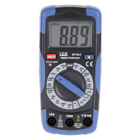 Мультиметр цифровой СЕМ DT-912 цифровой термогигрометр сем dt 321s 480359