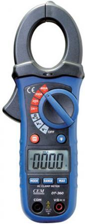 Токоизмерительные мини клещи CEM DT-360 600В ЖК-дисплей токоизмерительные мини клещи cem fc 35 600в фонарик