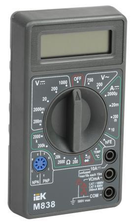 Мультиметр IEK Universal M838 цифровой цифровой мультиметр jtc 1442