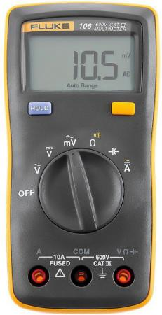 Мультиметр FLUKE 106 600В 10А 40МОм 2 AAA стробоскоп тахометр светодиодный fluke 820 2