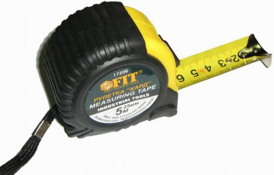 Рулетка Fit Хард 5мx25мм 17206 рулетка fit хард 10m x 25mm 17210