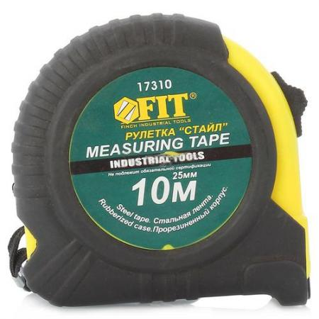 Рулетка Fit Стайл 10мx25мм 17310 тонконосы стайл fit 50636