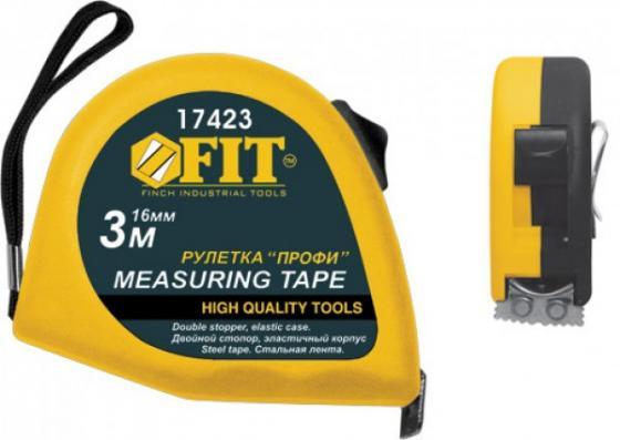 Рулетка FIT 17428 Профи 7,5м х 25мм, нейлон.покрытие, калибр.лента класс II, магн.крючок