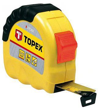 Рулетка TOPEX 27C305 5мx19мм валик topex 20b551