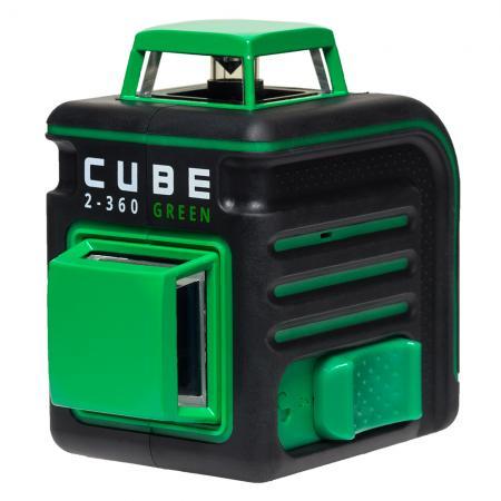 Лазерный уровень ADA CUBE 2-360 Green Ultimate Edition до20м ±3/10мм/м ±4° 535нм зеленый луч IP54 цифровой уровень ada prodigit 30