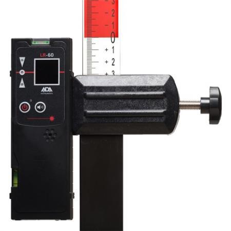 Приемник луча построителей плоскости ADA LR-60 точность ±1мм/10м работа30ч питание1х9V (6LR61) ada lr 50 armo 2d 3d