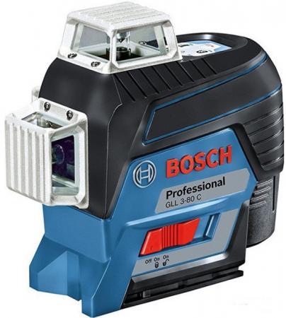 Уровень BOSCH GLL 3-80C+BM1+12V+L-boxx (0.601.063.R02) 30м с приемником: 120м ±0.2мм/м <4с 4° 360° нивелир bosch gll 3 80 06159940m0 зимний набор сумка bosch
