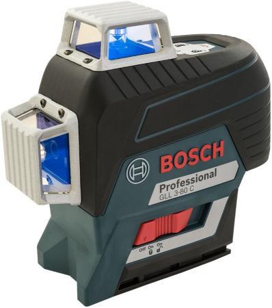 Уровень BOSCH GLL 3-80C+BT 150+вкладк (0.601.063.R01) 30м с приемником: 120м ±0.2мм/м <4с 4° 360° штатив bosch bt 250 0 601 096 a00