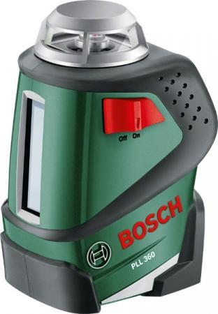 цена на Уровень лазерный BOSCH PLL 360 SET + ШТАТИВ (0.603.663.001) линейный крест/линия 20м ±0.4мм/м 360°