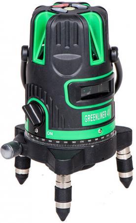Уровень INSTRUMAX GREENLINER 4V 3хАА 5линии 1отвес 30м сумка-чехол уровень instrumax greenliner 2v