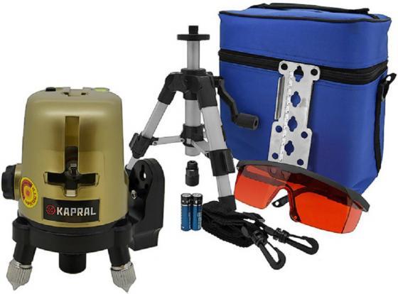 Лазерный нивелир KAPRAL START линейный крест/3 линии ±3 мм/10 м/ 30м +магнит штатив очки уровень нивелир лазерный lax 50 – штатив 10 м stabila стандарт
