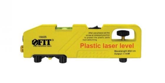 Уровень лазерный FIT 18605 225мм, ABS пластик, до 30 м, 1 глазок бра benetti modern piramidi никель бежевый 1xe27 коллекция mod 421