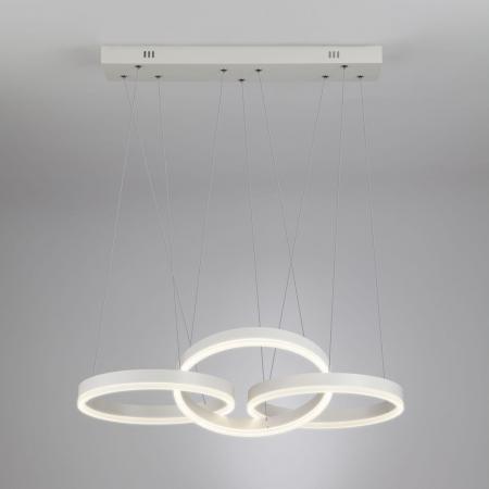 Подвесной светодиодный светильник с пультом ДУ Eurosvet Integro 90070/3 белый