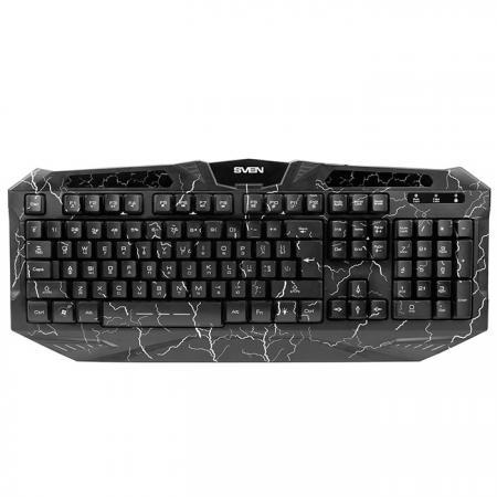 Клавиатура проводная Sven Challenge 9900 USB черный SV-03109900UB клавиатура проводная sven challenge 9300 usb черный