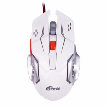 лучшая цена Мышь проводная Ritmix ROM-355 белый USB