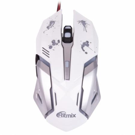 Мышь проводная Ritmix ROM-360 белый USB ritmix rom 340 antistress black мышь
