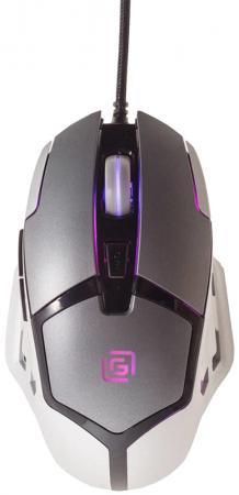 Мышь проводная Oklick 915G Hellwish V2 чёрный серебристый USB цена