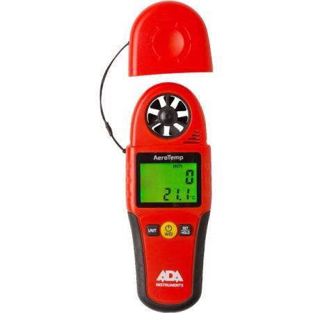 Анемометр-термометр ADA AeroTemp 0.4-30м/с, 0...+50 °C анемометр ada aerotemp