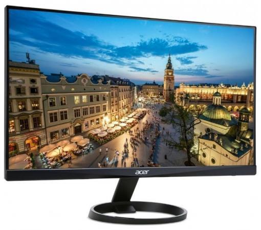 Монитор 24 Acer R240HYAbidx черный VA 1920x1080 250 cd/m^2 4 ms DVI HDMI VGA Аудио UM.QR0EE.A01 монитор 23 samsung c24f396fhi черный va 1920x1080 250 cd m^2 4 ms hdmi vga аудио