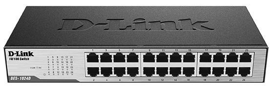 Коммутатор D-LINK DES-1024D/G1A неуправляемый  порта /100Mbps