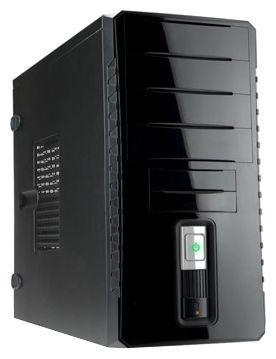 Корпус INWIN EC030BL USB3.0 (Midi Tower, ATX, без БП, USB+Audio, черный глянцевый) <6120742> корпус inwin ear037 black atx 450w usb audio