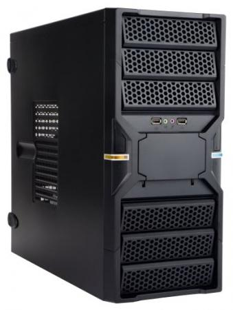 Корпус INWIN EC036BL USB 3.0 (Midi Tower, ATX, без БП, 2xUSB 3.0+Audio+MIC, черный) <6120651> корпус inwin ear023bl usb 3 0 midi tower atx без бп usb audio черный