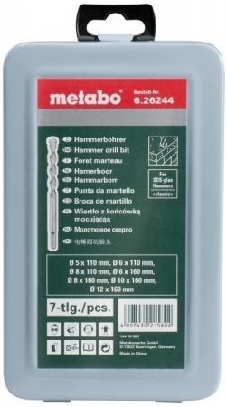 Набор буров METABO 626244000 7шт. SDS+ classic 5,6,8,6,8,10,12мм набор буров metabo 626244000 7шт sds classic 5 6 8 6 8 10 12мм
