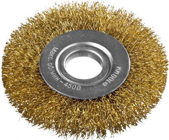 Кордщетка DEXX 35101-100 дисковая для УШМ витая сталь0.3мм 100мм/22мм кордщетка dexx 35110 100 дисковая со шпилькой витая сталь0 3мм d100мм