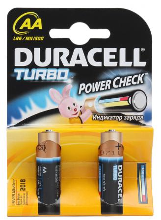 Батарейки Duracell Turbo MAX LR6-2BL AA 2 шт батарейки duracell mn21 b1 security 12v alcaline