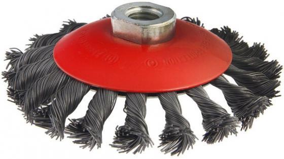 Кордщетка Hammer Flex 207-112 115мм M14  радиальная витая жесткая, усиленная кольцом, для УШМ
