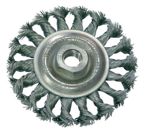 Кордщетка PROLINE 32530:P дисковая сталь пров.волн. fi=100мм резьба М14 цены