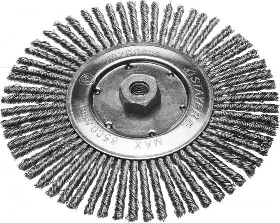 Кордщетка STAYER 35192-200 дисковая для УШМ сплет в пучки стальн зак провол 0.5мм 200мм/М14 все цены