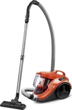Пылесос Tefal TW3724RA сухая уборка чёрный оранжевый пылесос tefal tw3724ra черный оранжевый