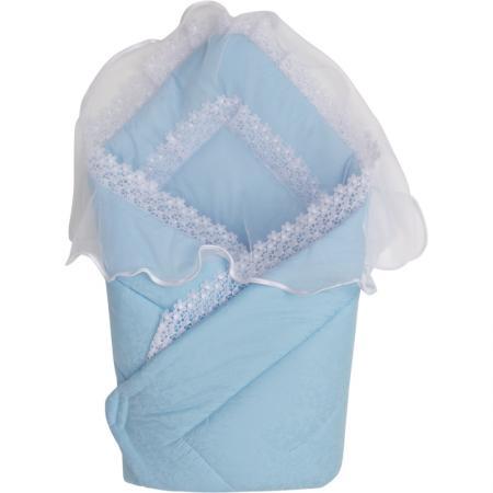 Конверт-одеяло на выписку Золотой Гусь 2714 (сатин-жакард/голубой) sofija конверт на выписку misia sofija голубой