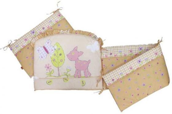 Бампер в кроватку Золотой Гусь Little Friend (бежевый) комплект в кроватку золотой гусь little friend 7 предметов бежевый 1263