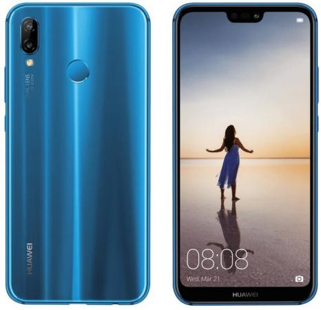 Смартфон Huawei P20 Lite синий 5.84 64 Гб NFC LTE Wi-Fi GPS 3G смартфон huawei mate 20 lite золотой 6 3 64 гб lte wi fi gps 2340 1080 20mp 2mp 24mp 2mp bt 3750mah