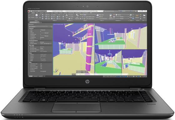 "Ноутбук HP ZBook 14U G4 14"" 1920x1080 Intel Core i7-7500U 512 Gb 16Gb AMD FirePro W4190M 2048 Мб черный Windows 10 Professional 1RQ70EA ноутбук hp zbook 15 g4 y6k29ea y6k29ea"