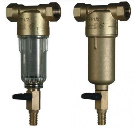 Набор из двух сетчатых фильтров atoll AFF-1/2CM (прозр. пластик + латунь) (аналог FF06-1/2AA + FF06- смазка aff liquid 200ml