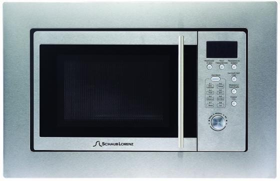 Встраиваемая микроволновая печь Schaub Lorenz SLM EE21D 800 Вт серебристый микроволновая печь bbk 23mws 927m w 900 вт белый