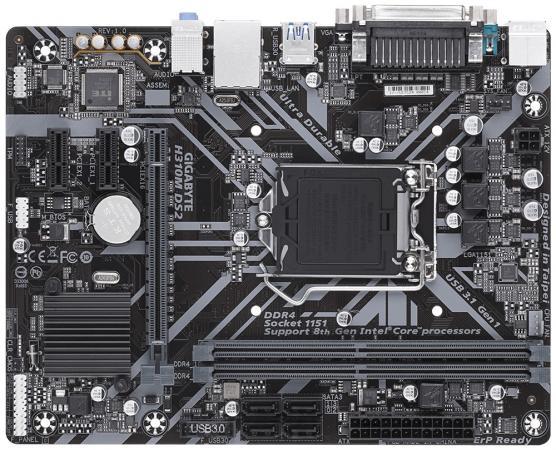 Материнская плата GigaByte H310M DS2 Socket 1151 v2 H310 2xDDR4 1xPCI-E 16x 2xPCI-E 1x 4 mATX Retail