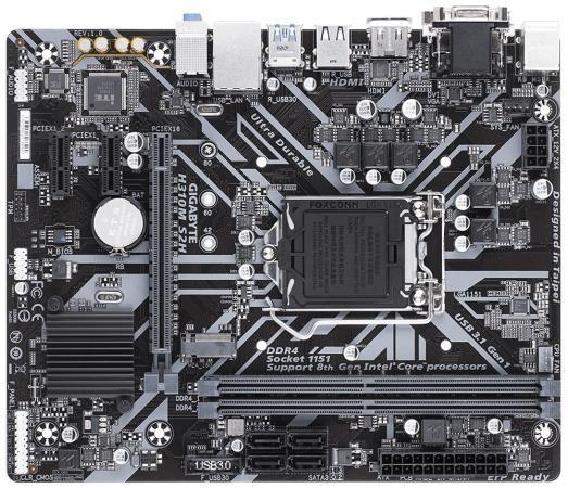 Материнская плата GigaByte H310M S2H v1.1/v.2.0 Socket 1151 v2 H310 2xDDR4 1xPCI-E 16x 2xPCI-E 1x 4 mATX Retail