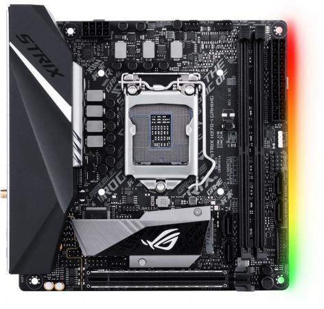 Материнская плата ASUS ROG STRIX H370-I GAMING Socket 1151 v2 H370 2xDDR4 1xPCI-E 16x 4 mini-ITX Retail 90MB0WE0-M0EAY0 мат плата для пк msi z270i gaming pro carbon ac socket 1151 z270 2xddr4 1xpci e 16x 4xsataiii mini itx retail