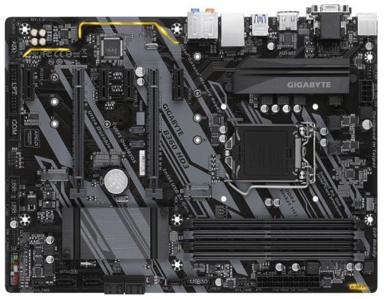 Материнская плата GigaByte B360 HD3 Socket 1151 v2 B360 4xDDR4 2xPCI-E 16x 4xPCI-E 1x 6 ATX Retail мат плата для пк asus e3 pro gaming v5 socket 1151 c232 4xddr4 2xpci e 16x 2xpci 2xpci e 1x 6xsataiii atx retail