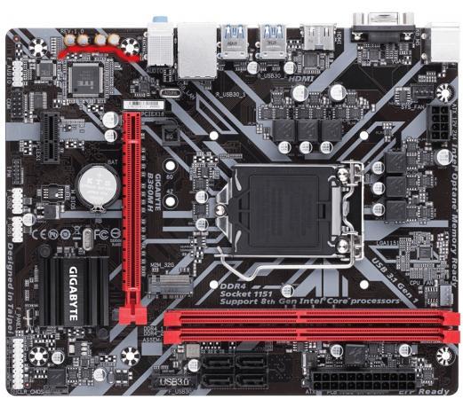 Материнская плата GigaByte B360M H Socket 1151 v2 B360 2xDDR4 1xPCI-E 16x 1xPCI-E 1x 4 mATX Retail материнская плата gigabyte b360m ds3h b360 socket 1151v2 4xddr4 6xsata3 1xm 2 1xpci e16x 4xusb3 1 d sub dvi d hdmi glan matx