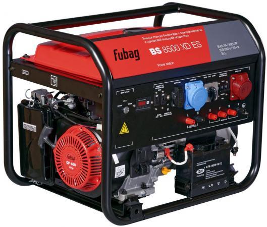 Электростанция бензиновая с электростартером и одинаковой выходной мощностью BS 8500 XD ES бензиновая электростанция fubag bs 5500