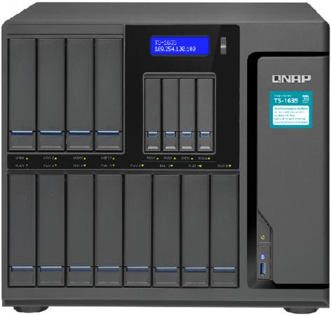 Сетевое хранилище QNAP TS-1685-D1521-16G 12x2,5 / 3,5 рэковое сетевое хранилище rack nas lenovo e1012 64111b2