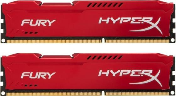 Оперативная память 16Gb (2x8Gb) PC4-27700 3466MHz DDR4 DIMM CL19 Kingston HX434C19FR2K2/16 модуль памяти kingston hyperx fury white ddr4 dimm 3466mhz pc 27700 cl19 16gb hx434c19fw 16