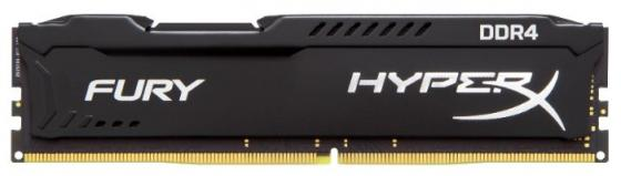 Оперативная память 16Gb PC4-27700 3466MHz DDR4 DIMM CL19 Kingston HX434C19FB/16 модуль памяти kingston hyperx fury white ddr4 dimm 3466mhz pc 27700 cl19 16gb hx434c19fw 16