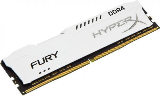 Оперативная память 16Gb PC4-27700 3466MHz DDR4 DIMM CL19 Kingston HX434C19FW/16 модуль памяти kingston hyperx fury white ddr4 dimm 3466mhz pc 27700 cl19 16gb hx434c19fw 16
